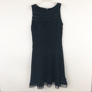 Adrianna Papell black midi dress